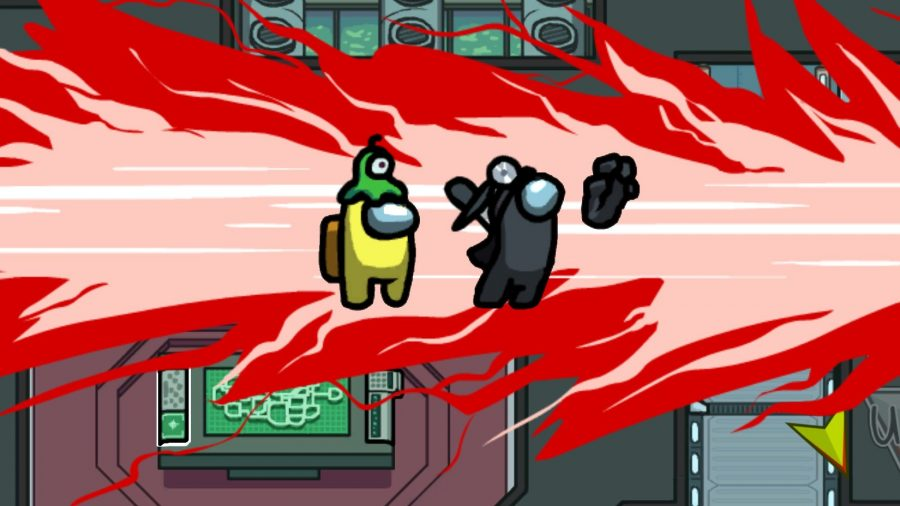 Best imposter games like among us - Among Us screenshot showing red getting stabbed by yellow