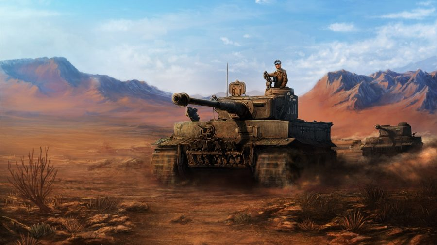 Hearts of Iron 4 DLC guide main image artwork showing Erwin Rommel in a Tiger Tank