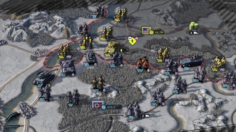 unit of command 2 review game map screenshot