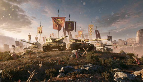 Promo shot of World of Tanks Italian decals