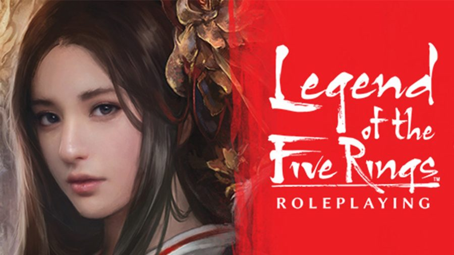 Best tabletop RPGs guide Legend of the Five Rings artwork showing a young woman from Rokugan, the game's East Asian-inspired setting