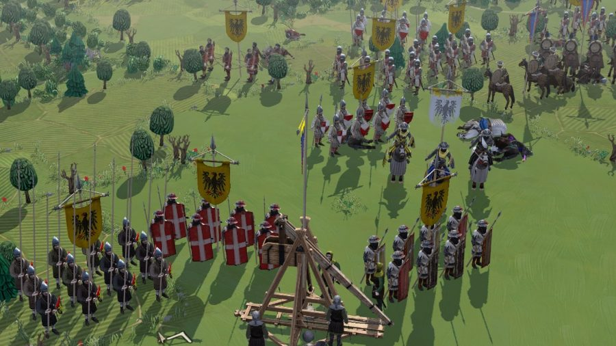 knights doing battle in field of glory 2 first impression