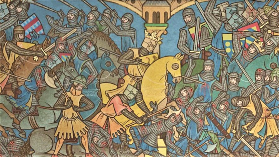 Field of Glory 2 Medieval review bayeux tapestry style artwork]