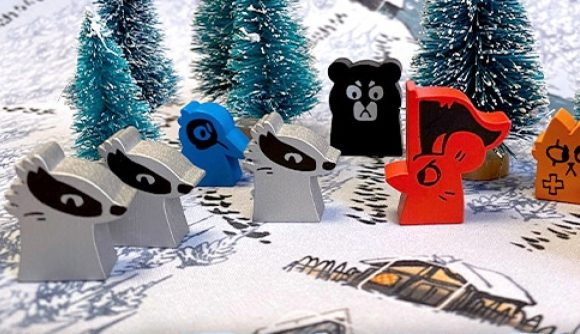Root board game marauder expansion revealed photo of rat and badger game pieces on snowy background