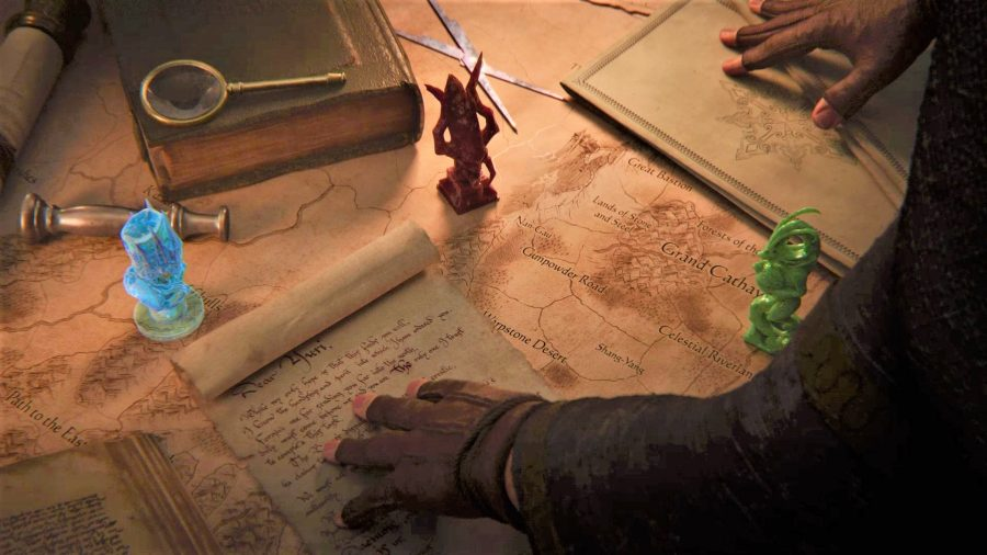 Total War Warhammer 3 trailer screenshot showing map of Cathay