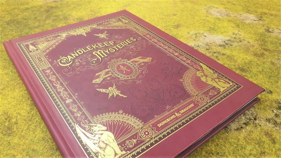 Photo showing the front cover of the collectors edition of Candlekeep Mysteries for D&D