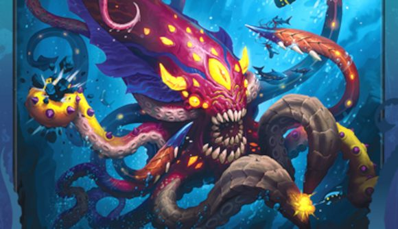 A cropped photo of the Keyraken card from Keyforge Adventures Rise of the Keyraken