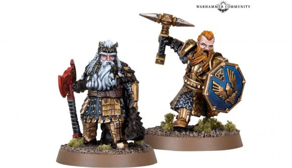 Lord of the Rings Warhammer photo of new models for Dain Ironfoot and his son Thorin III