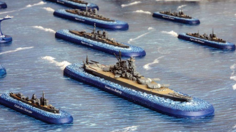 photo showing Victory At Sea's model of the Japanese battleship Yamato