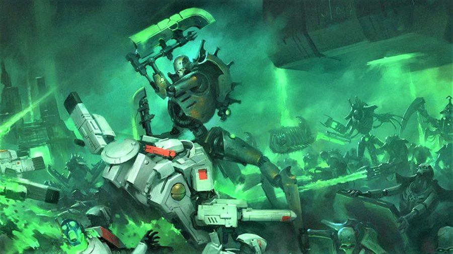 Games Workshop artwork showing Necron skorpekh destroyers