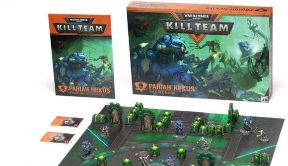 Kill Team Pariah Nexus box set photo showing box and board