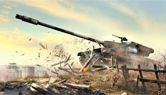 World of Tanks Console new season Flashpoint screenshot showing the T77 tank
