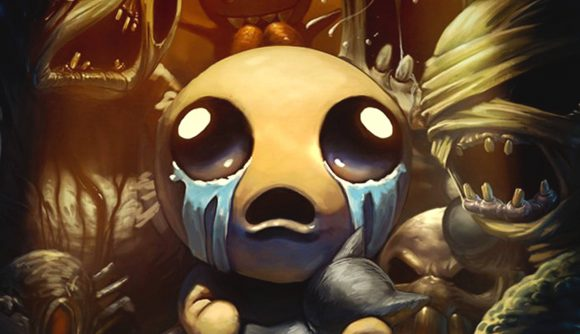 The main character's face from The Binding of Isaac Four Souls expansion