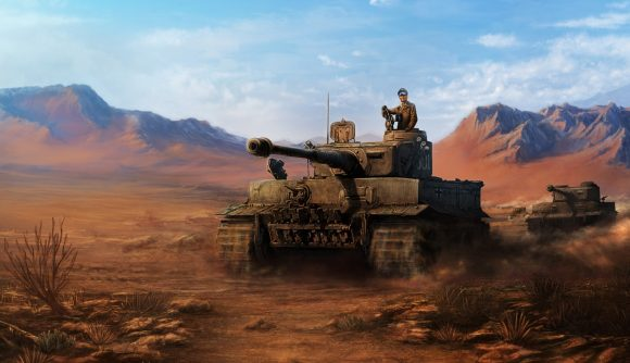 A tank from Hearts of Iron 4