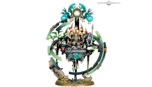 Games Workshop photo of the new Age of Sigmar model for Lord Kroak, greatest of the Slann mage priests