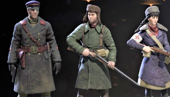 screenshot showing character selection in Partisans 1941 Back into Battle DLC