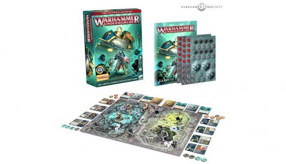Warhammer Underworlds Starter set photograph of box and materials