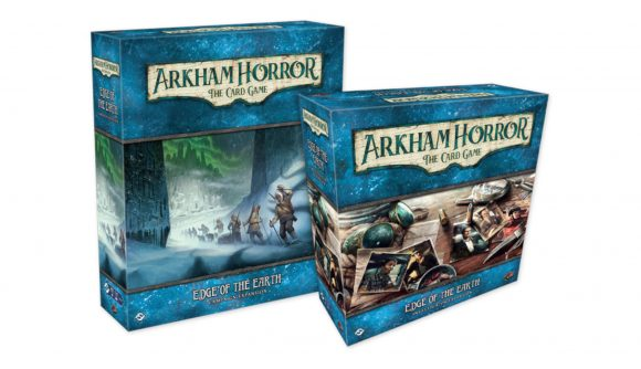 Boxes of Arkham Horror: The Card Game Edge of the Earth expansion