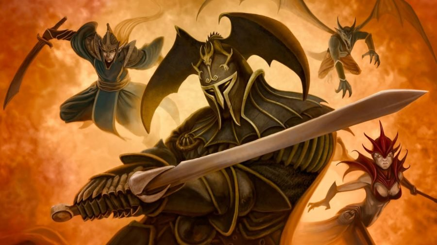 The best solo board games - Photo of the box artwork from the Mage Knight board game