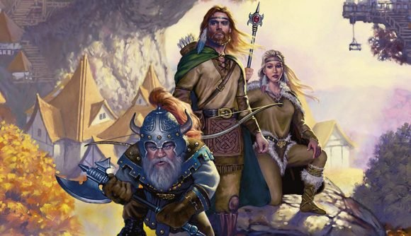 Three adventurers on the cover of Dragonlance, a potential D&D videogame