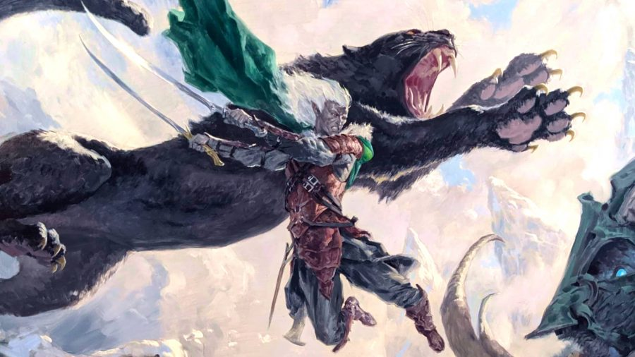 D&D character Drizzt Do'Urden from Magic: The Gathering Adventures in the Forgotten Realms spoilers
