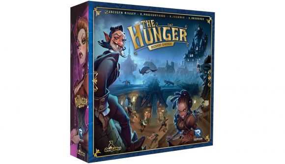 The box of The Hunger designed by Magic: The Gathering creator Richard Garfield