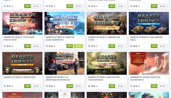 Screenshot of the Humble Bundle for Paradox games DLC in June 2021