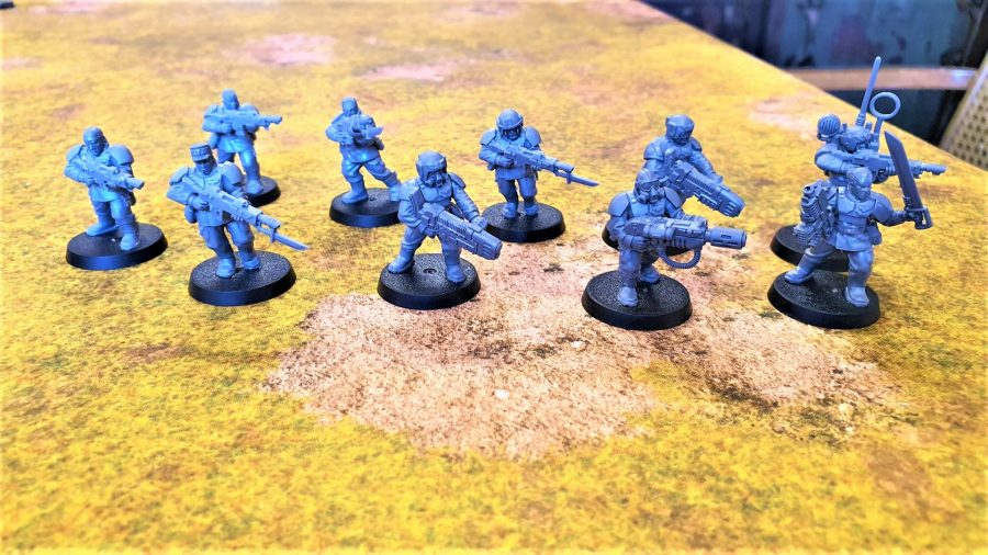 Photo of the new Cadian Shock troops models for Warhammer 40K