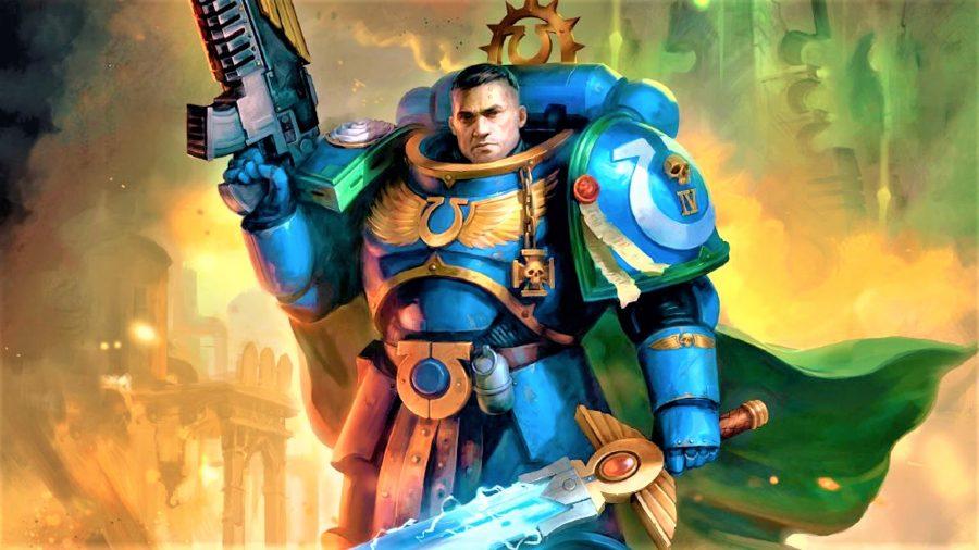 Warhammer 40k Ultramarines guide - Warhammer Community artwork showing Captain Uriel Ventris