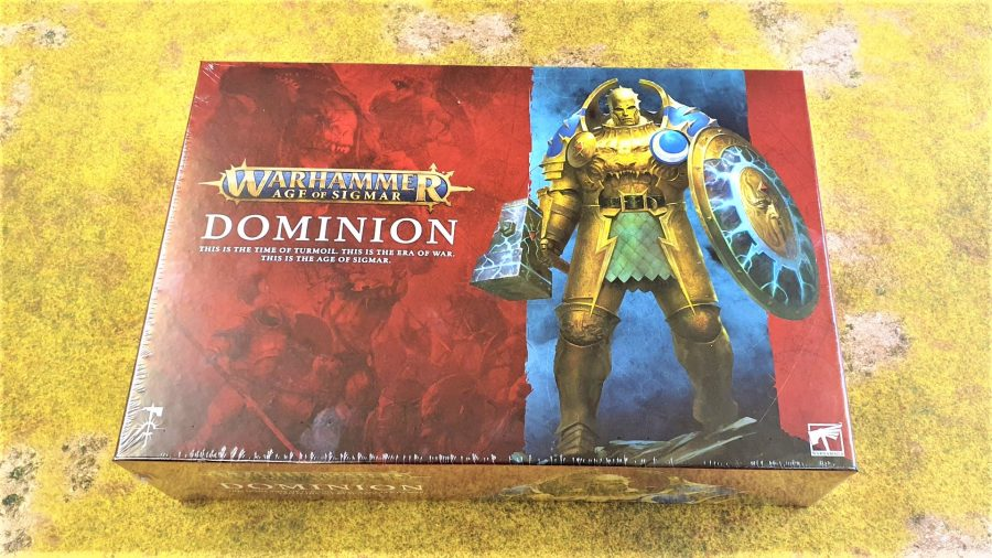 Photo of the box front for Warhammer Age of Sigmar Dominion