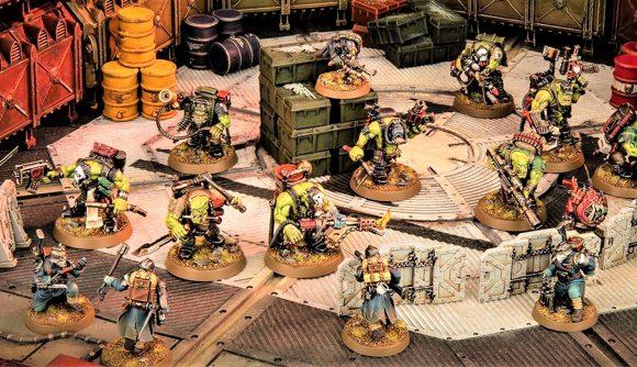 Warhammer 40k Kill Team Octarius 2nd Edition actions rules Warhammer Community photo showing Orks Kommandos and Krieg veteran models fighting