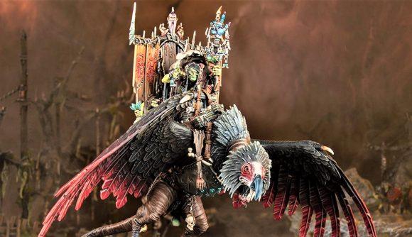 Age of Sigmar Kruleboyz Gobsprakk Mouth of Mork on Killabeak model Warhammer Community photo