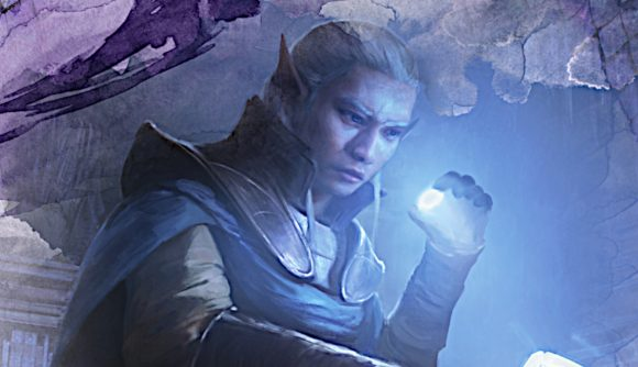 DnD Adventures in the Forgotten Realms an elf holding glowing rock