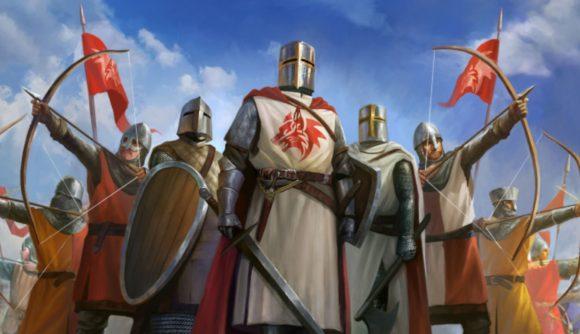 DnD Matt Colville supplement Kingdoms & Warfare knights in shining armour looking proud
