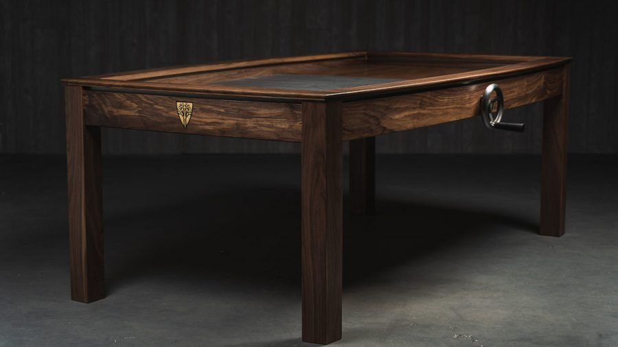 gaming tables wyrmwood prophecy oak table