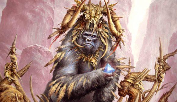 Magic: The Gathering Arena Historic Horizons gorilla shaman holding a bone