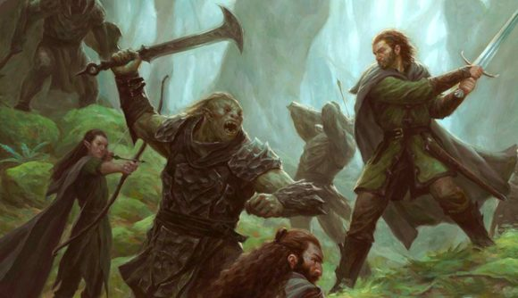 The Lord of the Rings: Journeys in Middle-earth an Orc fighting a Ranger in a forest