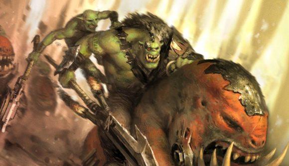 Warhammer 40k Beast Snagga Orks riding a squig