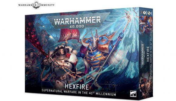Warhammer 40k Hexfire Battlebox release date Warhammer Community photo showing front box art