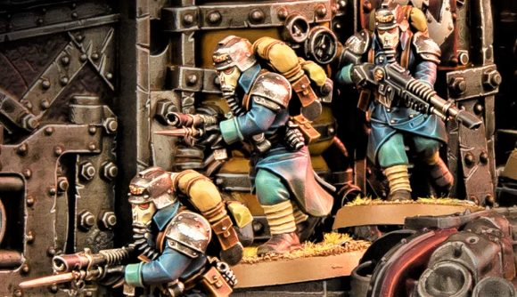 Warhammer 40k Kill Team 2nd edition warhammer community photo showing death korps of krieg troopers