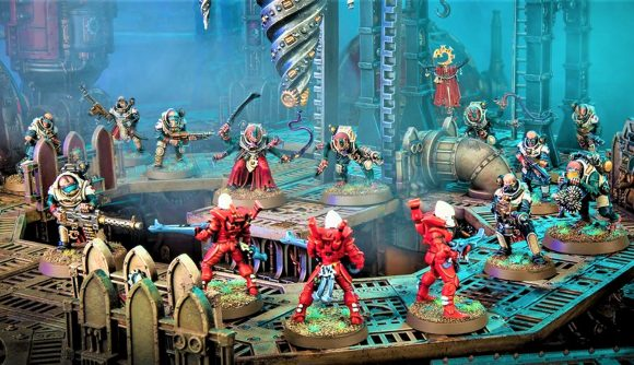 Warhammer 40k Kill Team Octarius 2nd Edition matched play missions and Tac Ops secret objectives Warhammer Community photo showing eldar and genestealer cults models