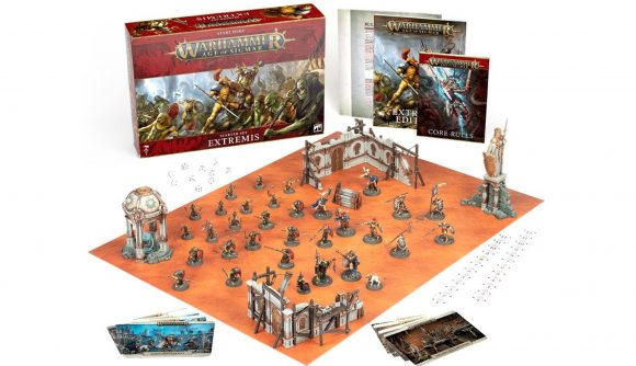 Warhammer Age of Sigmar 3rd edition starter sets Extremis photo of included models and parts