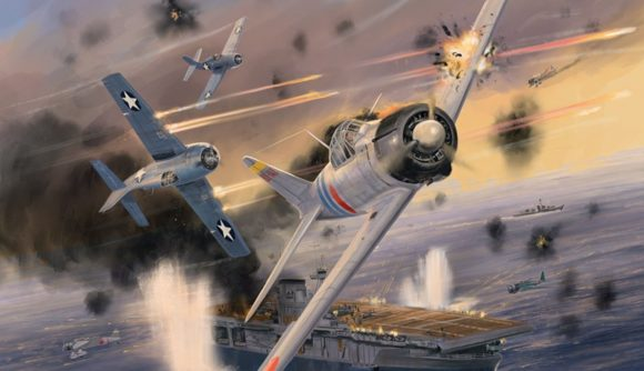 Blood Red Skies Warlord Games Battle of Midway fighter planes skirmishing in the air