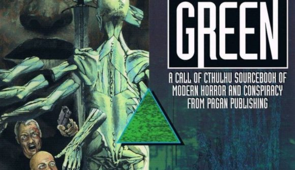 Call of Cthulhu Delta Green sourcebook Kickstarter showing a multi-limbed monsterover