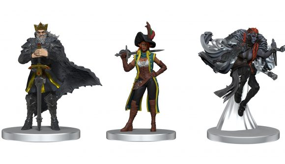 Critical Role miniatures lined up