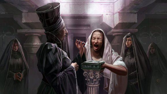 Dune RPG Adventures in the Imperium le Bene Gesserit effectuant un rituel