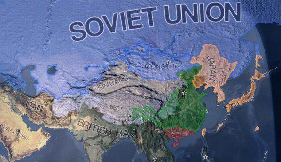 Hearts of Iron 4 DLC the Soviet Union on the world map