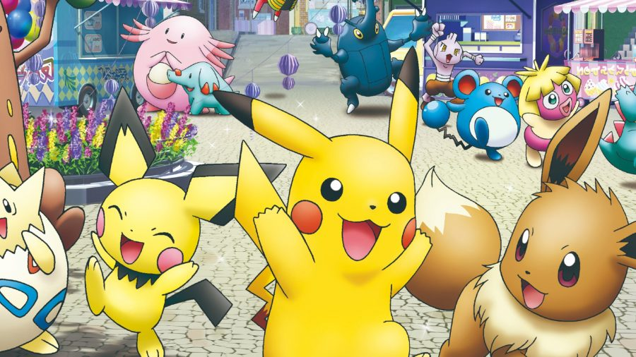 How to build a Pokemon deck Pikachu surrounded by other Pokemon