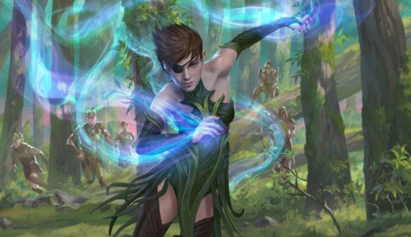 Magic: The Gathering Arena Jumpstart: Historic Horizons a wood elf casting a spell