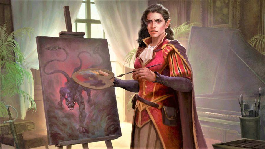 Magic The Gathering Kalain, Reclusive Painter in Commander card art for Kalain
